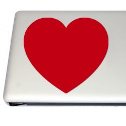 Heart love Vinyl Decal (FREE US Shipping) (For car, laptop, tablets etc)