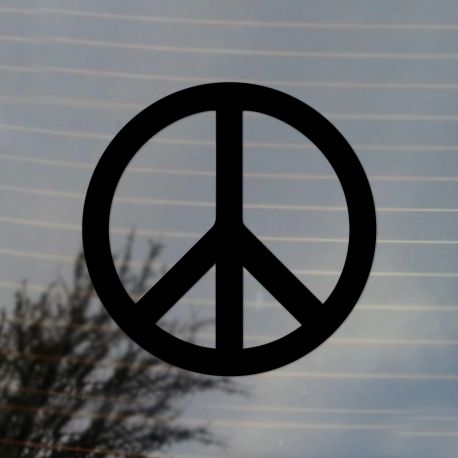 Peace Sign Activism Vinyl Decal