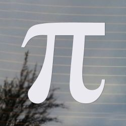 Pi Mathematical symbol Vinyl Decal (FREE US Shipping) (For car, laptop, tablets etc)
