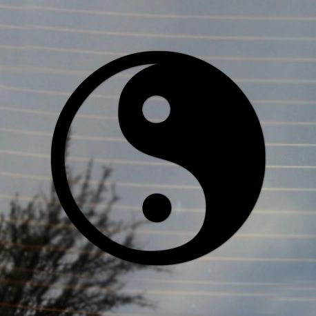 Yin Yang Symbol Vinyl Decal  (FREE US Shipping) (For car, laptop, tablets etc)