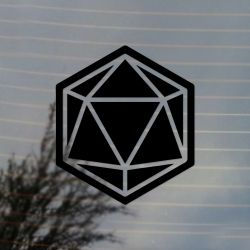 20 Sided Dice Gaming Vinyl Decal