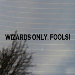 Wizards Only Fools Large Vinyl Decal Sticker (FREE US Shipping) (For car, wall, window etc)
