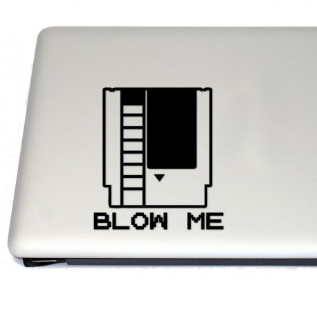 Blow Me NES Cartridge Vinyl Decal Sticker (FREE US Shipping) (For car, laptop, tablets etc)