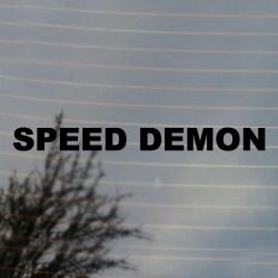 Speed Demon Car Racing Vinyl Decal