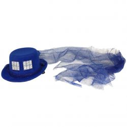 Glittering Police Box Sci-Fi Mini Hat