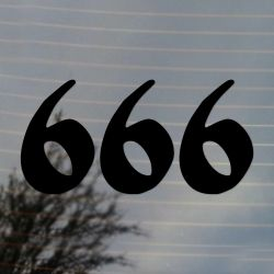 666 Halloween Vinyl Decal Sticker  (FREE US Shipping) (For car, laptop, tablets etc)