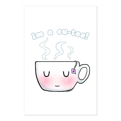 Coffee and Tea Double Sided Art Print Post Card