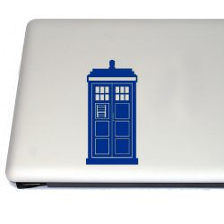 Tardis Doctor  Vinyl Decal Sticker (FREE US Shipping) (For car, laptop, tablets etc)