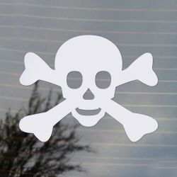 Skull and Crossbones Pirate Jolly Rogers Symbol Vinyl Decal