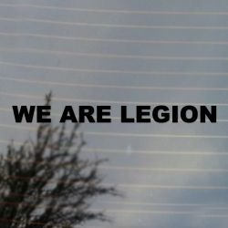 WE ARE LEGION hacker anonymous Vinyl Decal