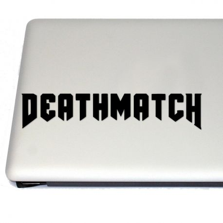 Deathmatch Hell Gaming  Vinyl Decal (FREE US Shipping) (For car, laptop, tablets etc)