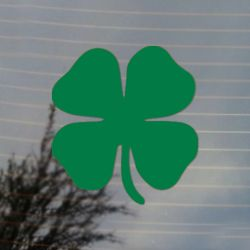 Four Leaf Clover Lucky Irish Vinyl Decal