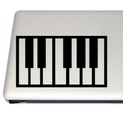 Piano Keyboard Music Vinyl Decal