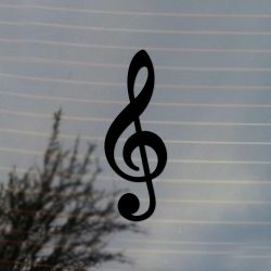 Treble Clef Music Theory Band Vinyl Decal