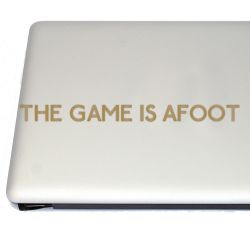 The Game is Afoot Sherlock Vinyl Decal