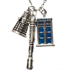 Police Box Screwdriver and Exterminator Alien Necklace