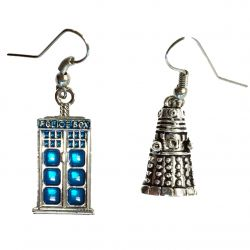 Police Box and Exterminator Alien Earrings