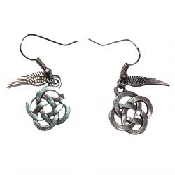 Celtic Eternal Knot and Angel Wing Earrings
