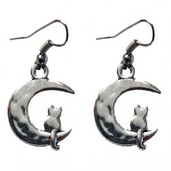 Lunar Cat Earrings