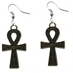 Ankh Egyptian Symbol Earrings