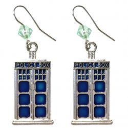 Police Box Crystal Earrings