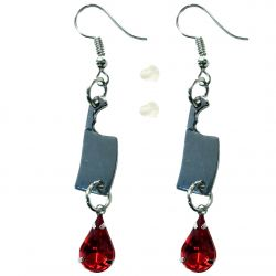 Serial Killer Blood Cleaver Earrings