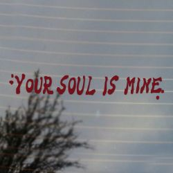 Your Soul is Mine Retro Gaming Vinyl Decal Sticker  (FREE US Shipping) (For car, laptop, tablets etc)