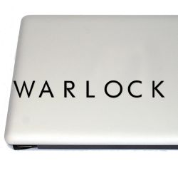 Warlock D Gaming Vinyl Decal (FREE US Shipping) (For car, laptop, tablets etc)