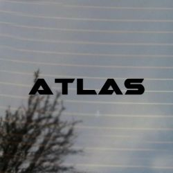 Atlas T Gaming Vinyl Decal (FREE US Shipping) (For car, laptop, tablets etc)