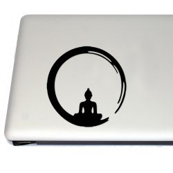 Buddha Brushstroke Vinyl Decal Sticker (FREE US Shipping) (For car, laptop, tablets etc)