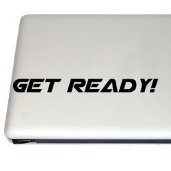 Get Ready Retro Gaming Vinyl Decal Sticker (FREE US Shipping) (For car, laptop, tablets etc)