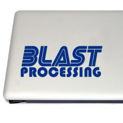 Blast Processing Retro Gaming Vinyl Decal Sticker (FREE US Shipping) (For car, laptop, tablets etc)