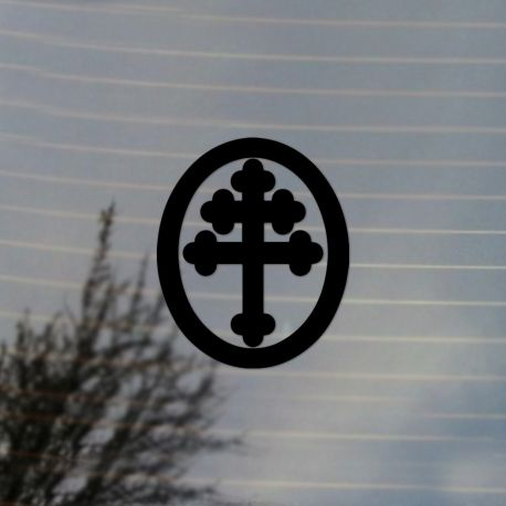Cross of Lorraine Vinyl Decal Sticker  (For car, laptop, tablets etc
