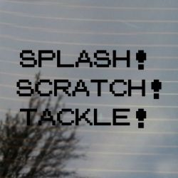 Splash Scratch Tackle Combo Vinyl Decal Set Sticker (FREE US Shipping) (For car, laptop, tablets etc)