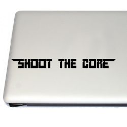 Shoot the Core Shootemup Vinyl Decal Sticker (FREE US Shipping) (For car, laptop, tablets etc)