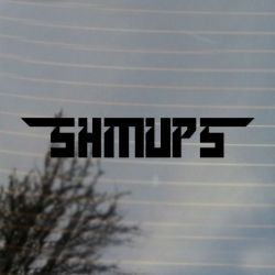 Shmups Shootemup Vinyl Decal 2 pack Sticker (FREE US Shipping) (For car, laptop, tablets etc)