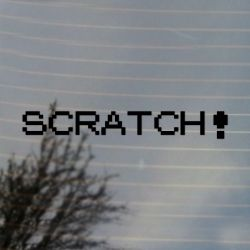 Scratch Pocket Vinyl Decal Sticker (FREE US Shipping) (For car, laptop, tablets etc)