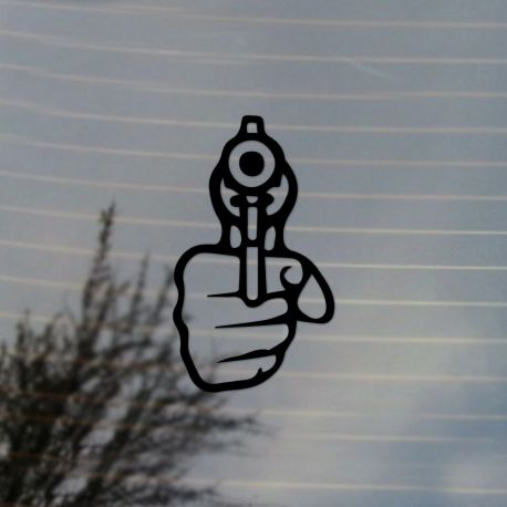 Revolver Gun Vinyl Decal Sticker (FREE US Shipping) (For car, laptop, tablets etc)