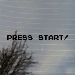 8 bit Press Start Gaming Vinyl Decal Sticker (FREE US Shipping) (For car, laptop, tablets etc)