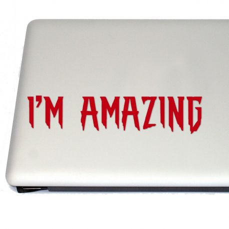 I'm Amazing Comic Book Vinyl Decal Sticker (FREE US Shipping) (For car, laptop, tablets etc)