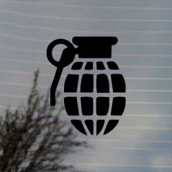 Classic Grenade Vinyl Decal Sticker (FREE US Shipping) (For car, laptop, tablets etc)