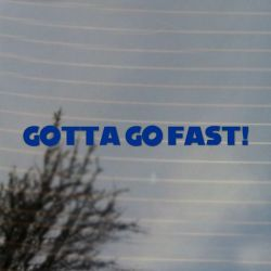 Gotta Go Fast Retro Gaming Vinyl Decal Sticker (FREE US Shipping) (For car, laptop, tablets etc)