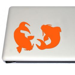 Japanese Chinese Koi Fish Vinyl Decal Sticker (FREE US Shipping) (For car, laptop, tablets etc)