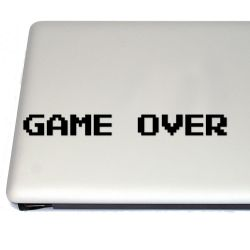 8 bit Game Over Gaming Vinyl Decal Sticker (FREE US Shipping) (For car, laptop, tablets etc)