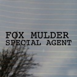 Fox Mulder Special Agent Vinyl Decal Sticker (FREE US Shipping) (For car, laptop, tablets etc)