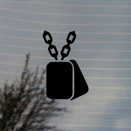 Military Dog Tags Vinyl Decal	Sticker (FREE US Shipping) (For car, laptop, tablets etc)