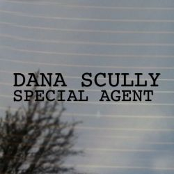 Dana Scully Special Agent Vinyl Decal Sticker (FREE US Shipping) (For car, laptop, tablets etc)