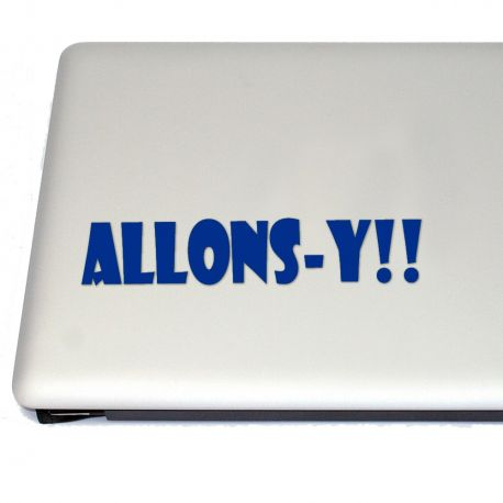 ALLONS-Y!! Vinyl Decal Sticker (FREE US Shipping) (For car, laptop, tablets etc)