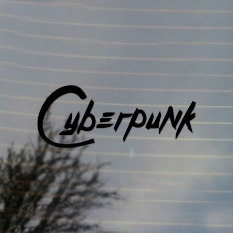 Cyberpunk Vinyl Decal Sticker (FREE US Shipping) (For car, laptop, tablets etc)