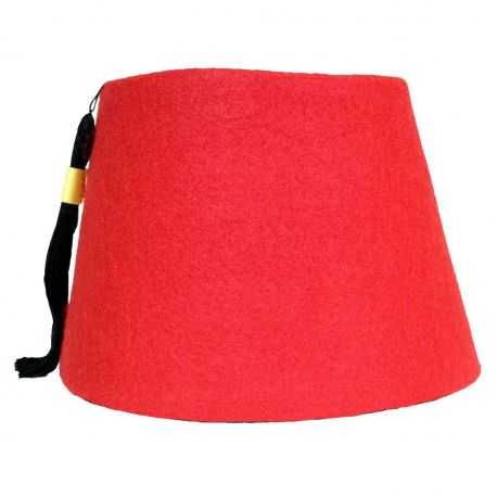 Red Cosplay Fez with Tassel